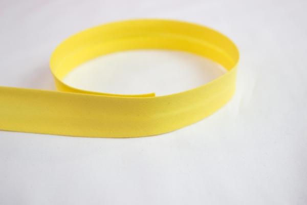Elastisches Schrägband vorgefalzt gelb Ökotex 100