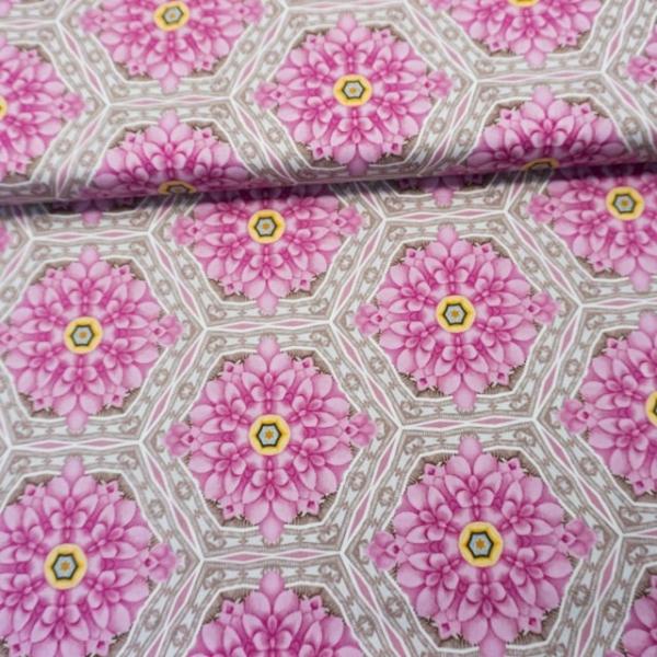 Gütermann Light Breeze Gerahmte Blüten rosa