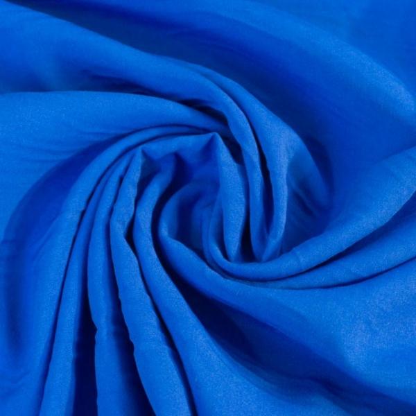Viskosewebware Kunstseide Uni royalblau