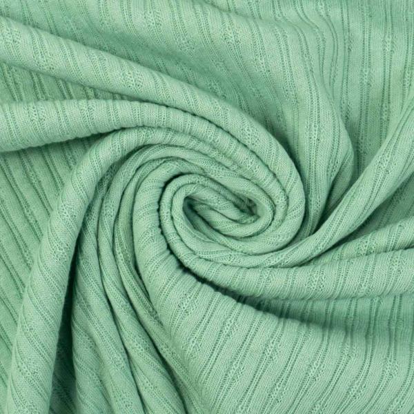 Baumwollstrick Jersey Stripeknit dusty mint
