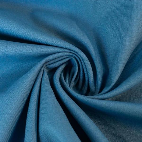 Baumwollwebware Fahnentuch Uni jeansblau dunkel Ökotex 100