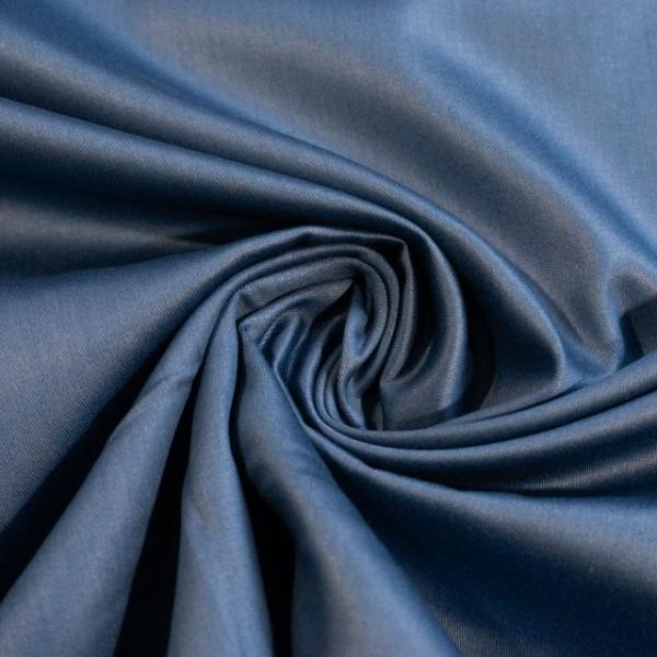 Baumwollsatin Uni jeansblau