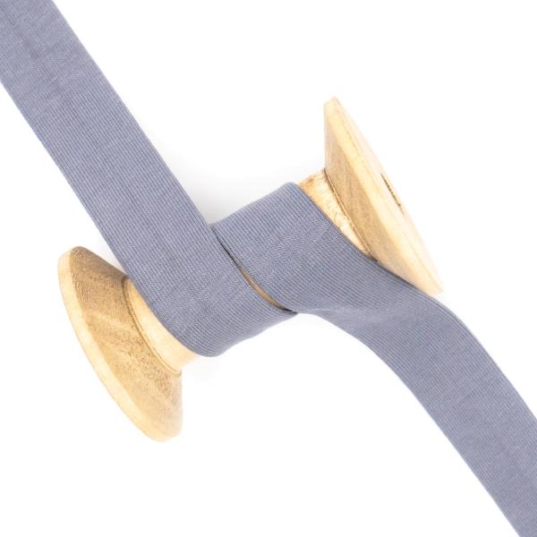 Jersey Schrägband Deluxe jeansblau