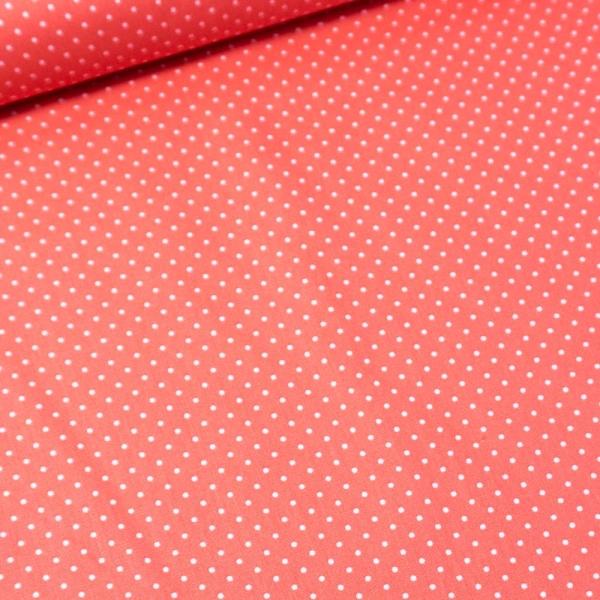 Baumwolle/Webware Petit Dots korall Ökotex 100