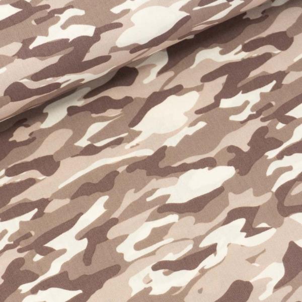Baumwollwebware Camouflage taupe