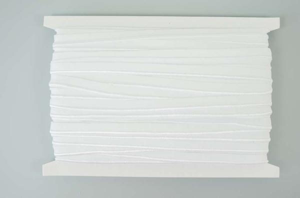 Elastisches Paspelband weiß