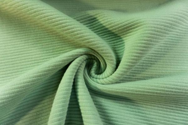 Baumwolljersey Stripe Knitted dusty mint Ökotex 100