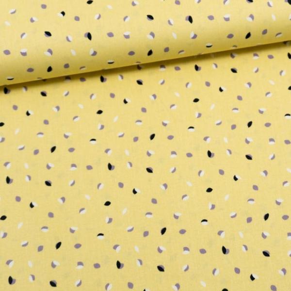 Baumwollwebware Veilchen Pastellgelb
