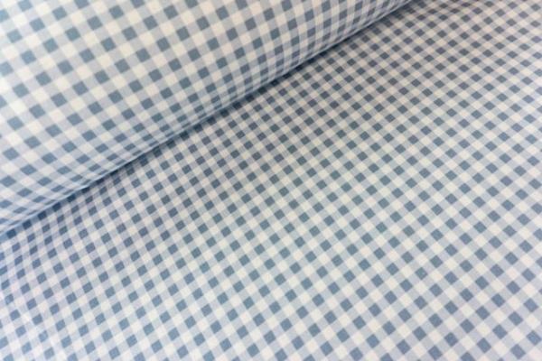 Gütermann Blooms little Checks jeansblau-hellblau Öko Tex 100