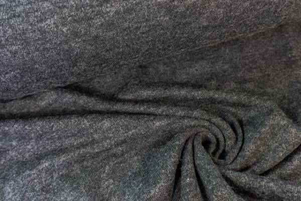 Strick-Jersey Angorastyle anthrazit meliert - super kuschelig Ökotex 100