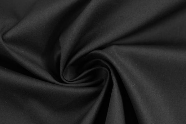 Baumwolle Poplin Stretch Uni knitterarm schwarz Ökotex 100