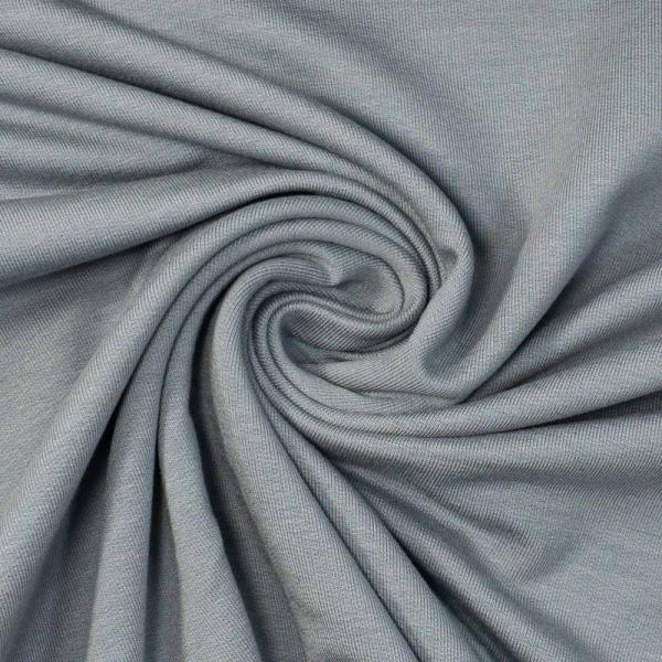 Bamboo Sommersweat Soft Uni dusty blue