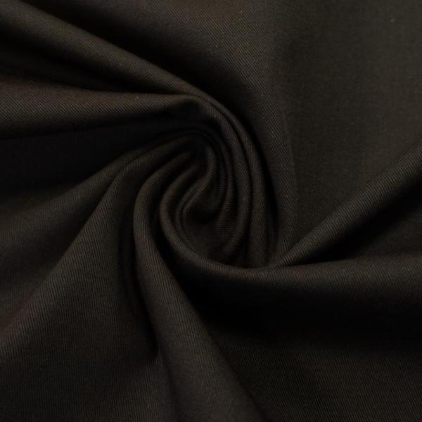 Elastische Baumwollwebware UNI dunkelbraun