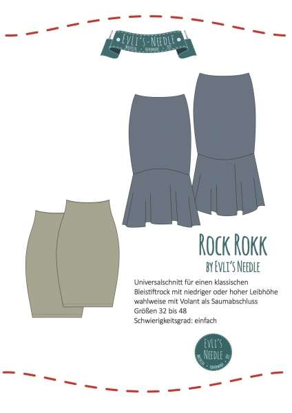"Papierschnitt Rock ""ROKK"" by EvLi's-Needle"