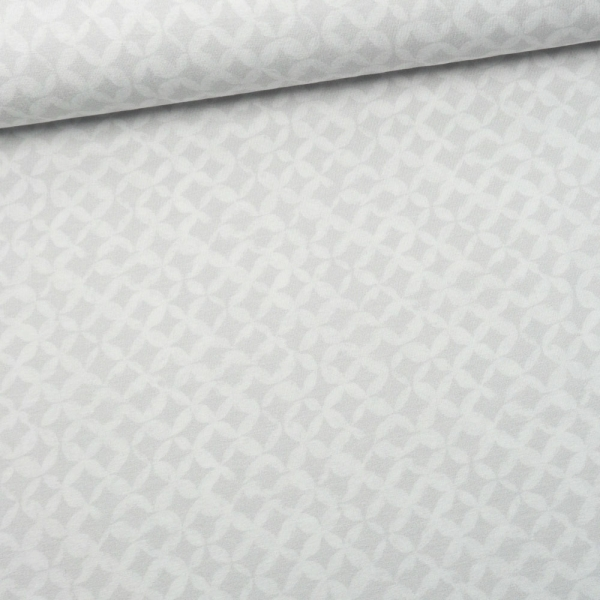 Viskosejersey Digital Aquarell Buttons hellgrau