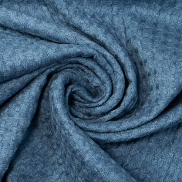 Waffelpique jeansblau