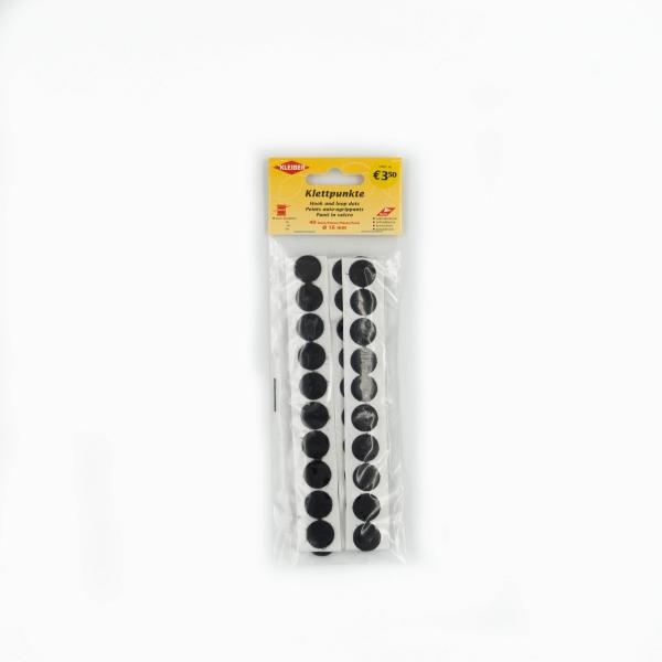 Klettpunkte schwarz 16mm
