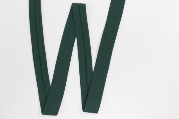 Jersey Schrägband vorgefalzt tannengrün Ökotex 100