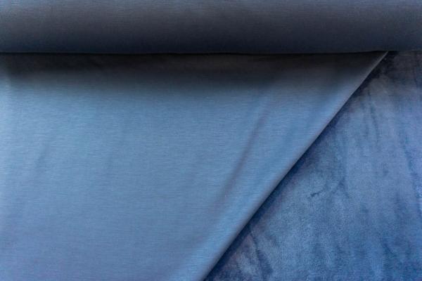 Alpenfleece Sweat Uni jeansblau Ökotex 100 - ohne Polyester -