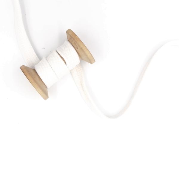 Flachkordel 20mm - Hoodie Kordel weiß