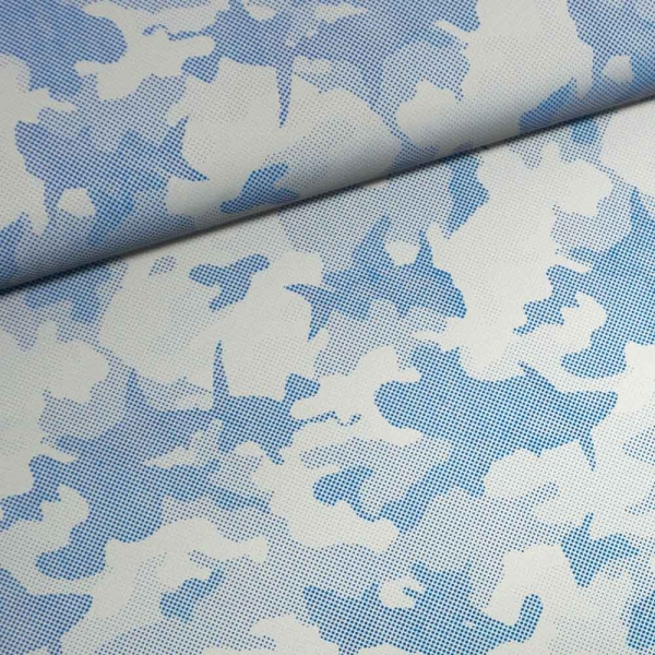 Reflex Reflektions-Stoff Dotted Camouflage jeansblau