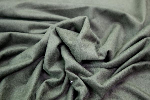 Velourlederjersey Khaki-dunkel 175/m2 Öko Tex100