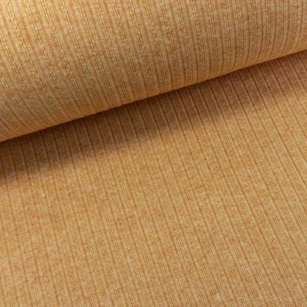 Jacquard Ripp-Knit Smooth Melange senfgelb