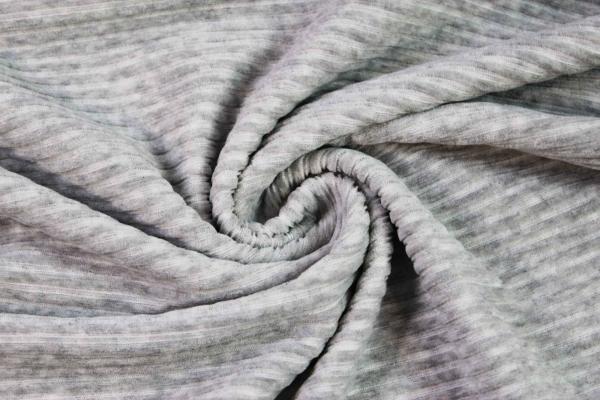 Jersey Breitcord Baumwolle hellgrau meliert ÖkoTex 100