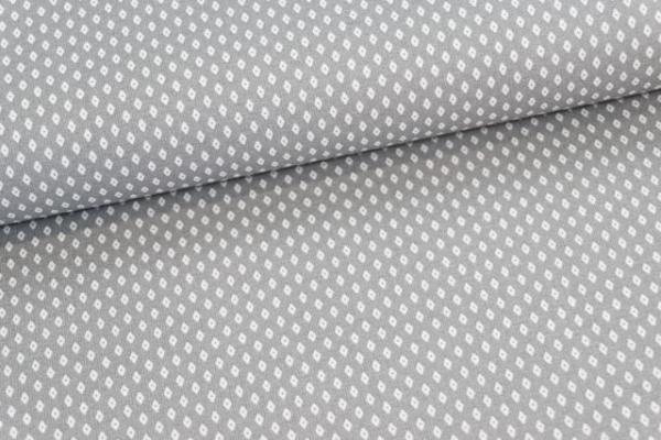 Baumwollwebware Kleine Raute grau Ökotex 100
