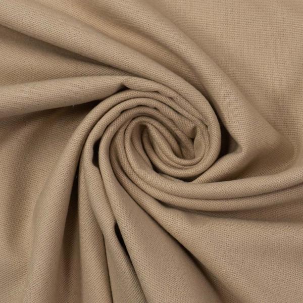 Flanell Baumwolle Uni beige