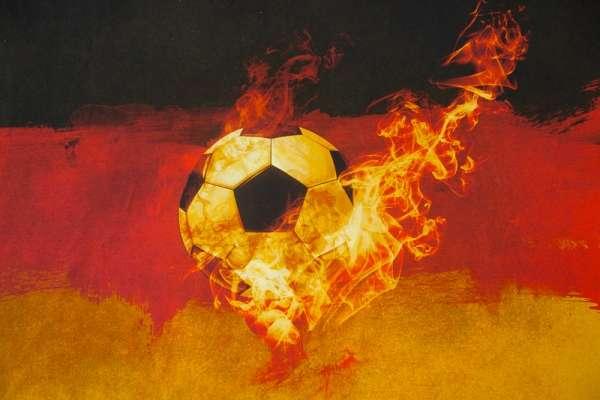 Das!! Deutschland Fußballpaneel Baumwolljersey Öko Tex 100