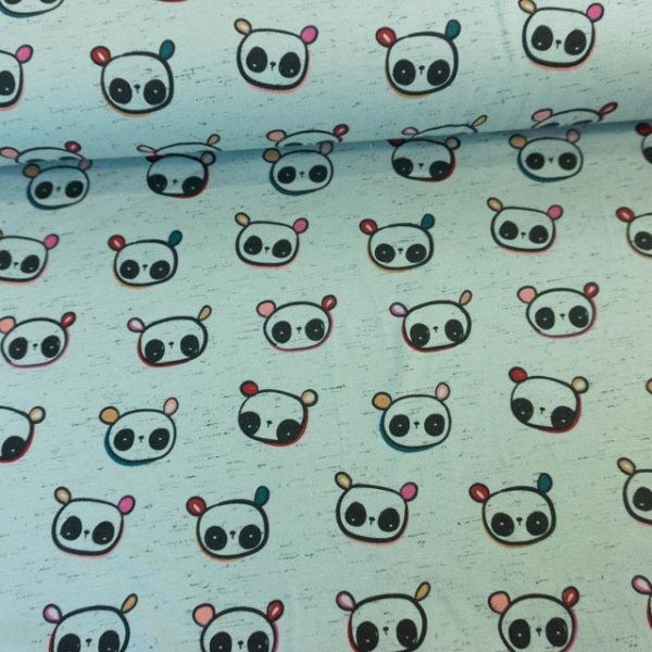 Baumwolljersey Italian Panda dusty mint Ökotex 100