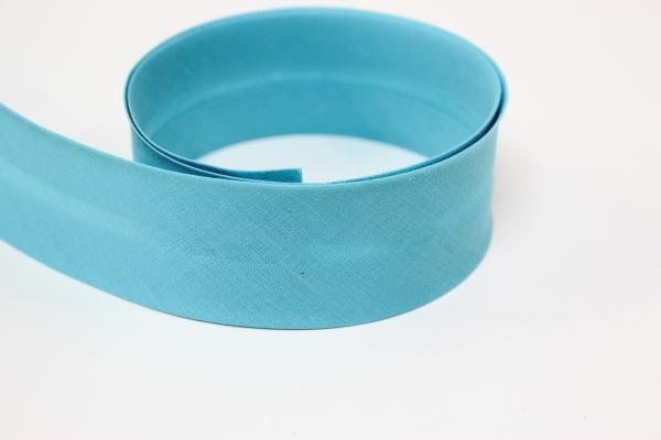 Schrägband 2cm oder 4cm breit vorgefalzt türkis Ökotex 100