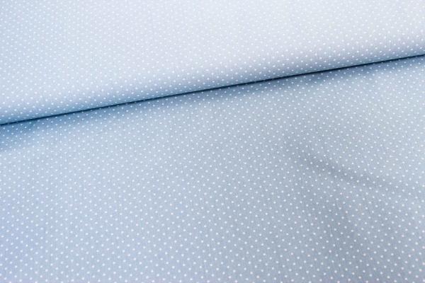 Baumwolle/Webware Petit Dots hellblau Ökotex 100