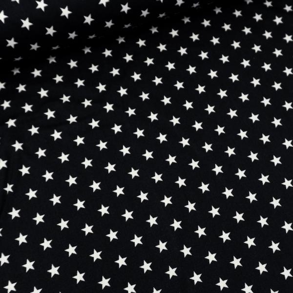 Baumwolle/Webware Stars schwarz Ökotex 100