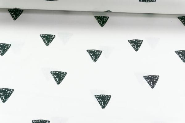 Baumwolle/Webware Drawing Triangle weiß-schwarz Ökotex 100