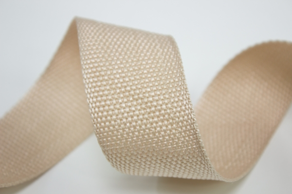Gurtband 40mm beige Polyester Ökotex 100