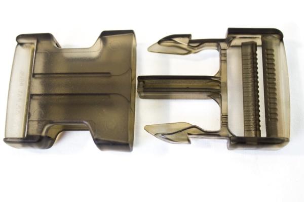 Rucksackschließe schwarz 40mm Kunststoff