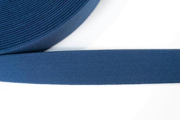 Gummiband SOFT jeansblau 25mm