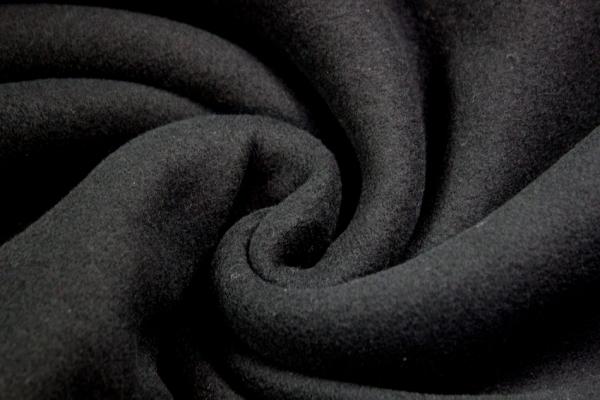 Baumwoll Kuschelfleece JACK schwarz 100% Baumwolle Ökotex 100