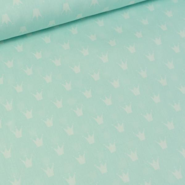 Baumwollwebware Krone mint