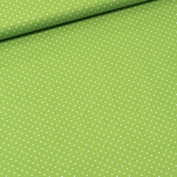 Baumwolle/Webware Petit Dots lime Ökotex 100