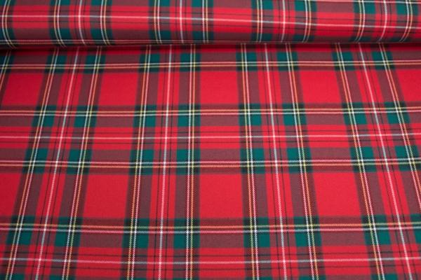 Twill Schottenkaro elastisch klassisch rot-grün GROß