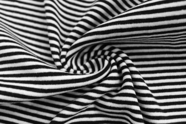 Bündchen Feinstrick Ringel weiß-schwarz Ökotex 100