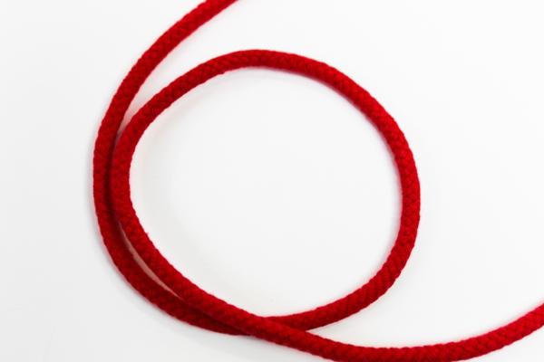 8mm Kordel geflochten rot Baumwolle