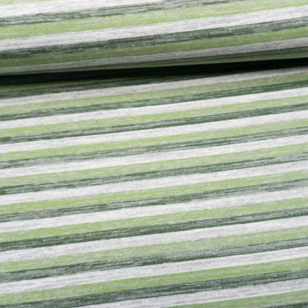 Sweat French Terry ANGERAUT Vintagestripes dusty mint