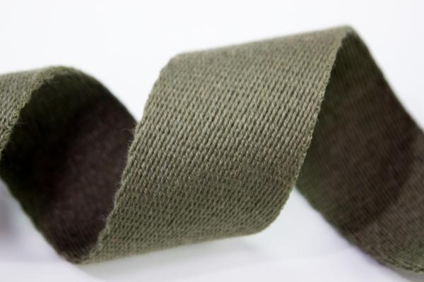 Gurtband 40mm oliv 100% Baumwolle Ökotex 100