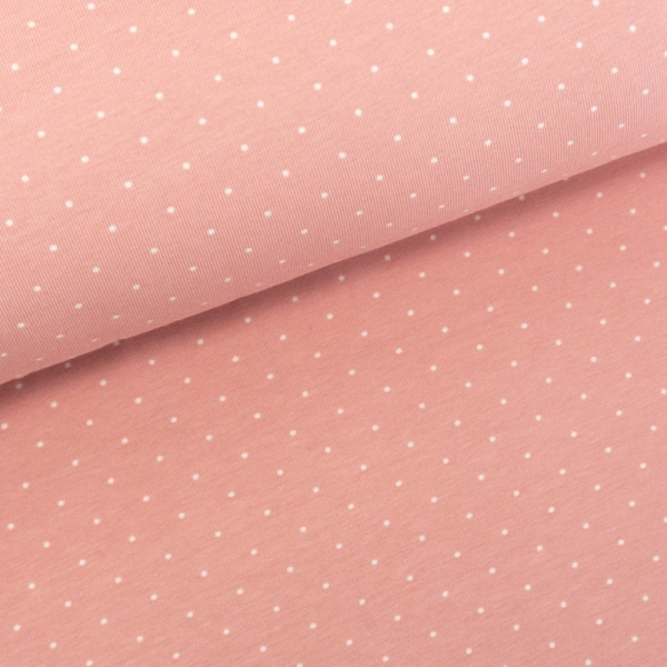 Baumwolljersey Small Dots altrosa