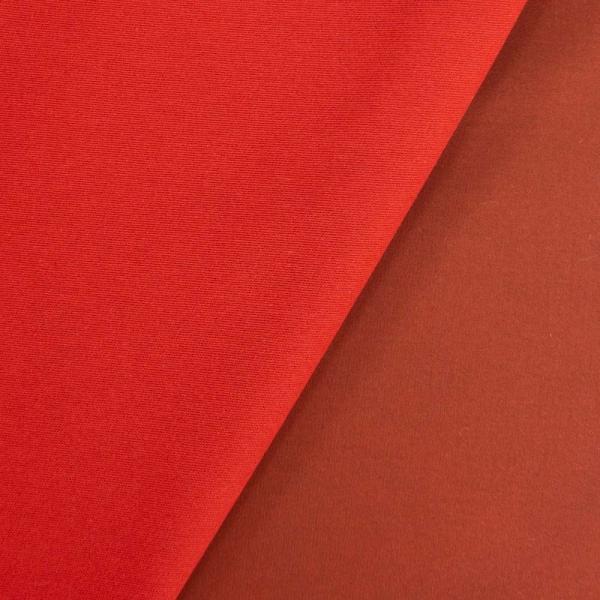 Elastische Baumwollwebware Uni rot