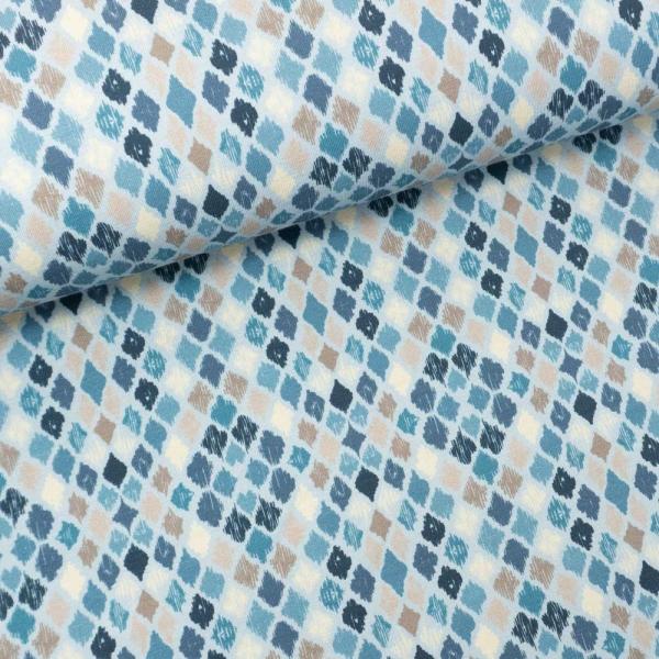 Baumwolljersey Argyle hellblau